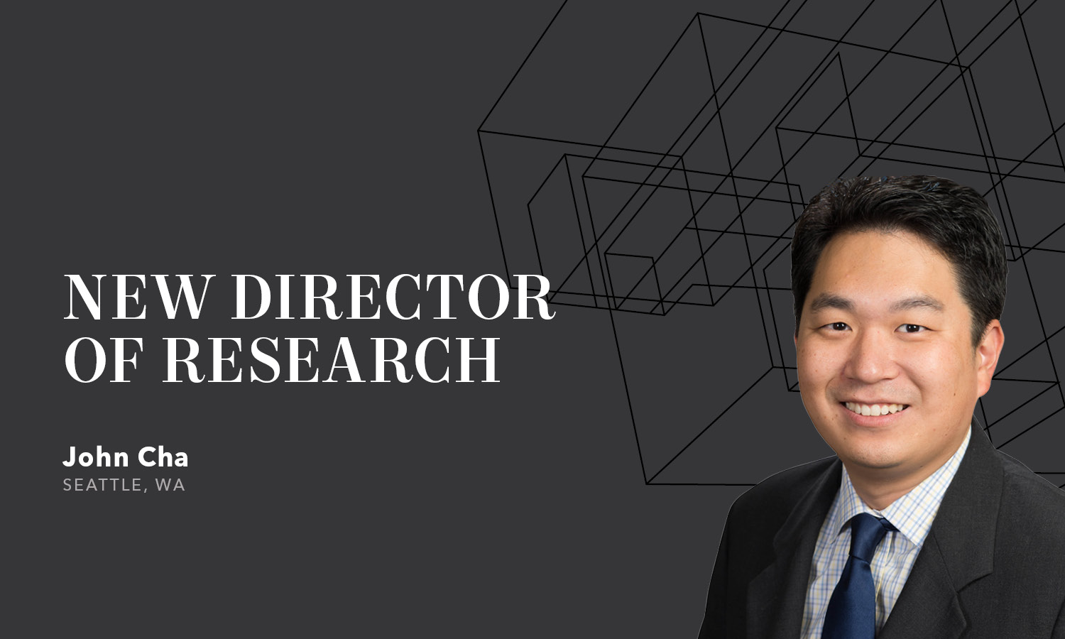 John Cha hired as new research director for kidder mathews